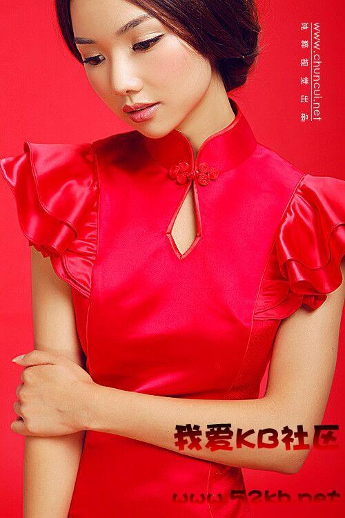 中国红新娘装