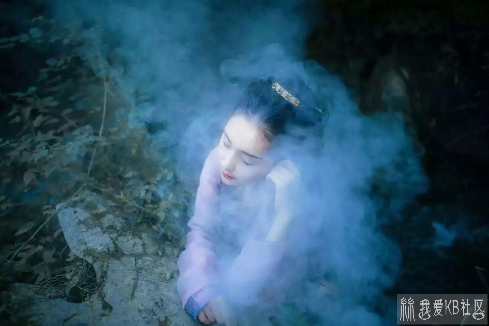 【兰如氏】古装美女烟雨中