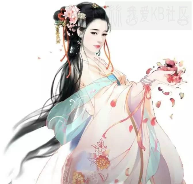漫画里的古装美女_2