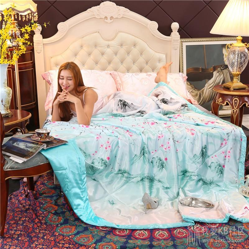 52kb 夏季丝质顺滑凉爽丝绸印花天丝真丝冰丝夏被薄被子空调被午睡被 Z  丝绸物品爱好者 140136hujmabs5sihs6ss8