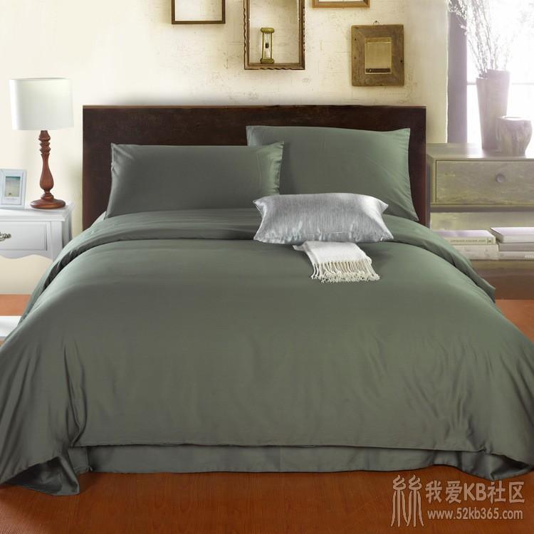 52kb 100%埃及长绒棉贡缎 60支埃及棉贡缎纯色四件套床上用品 特价 Z  丝绸物品爱好者 140948lblxm47b6pvx07qm