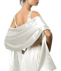 Great Costumes Satin Bridal Evening Shawls Scarves