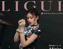 ligui 敏儿 黑色丝绸旗袍 肉丝