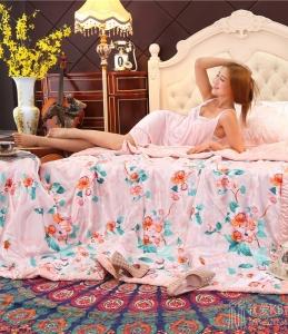 夏季丝质顺滑凉爽丝绸印花天丝真丝冰丝夏被薄被子空调被午睡被