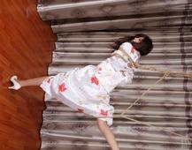 丝绸和服麻绳束缚02