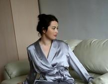 欧美丝绸衣服