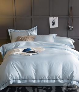 水洗真丝全棉四件套纯色被套1.8m贡缎天丝冰丝绸床单床笠床上用品
