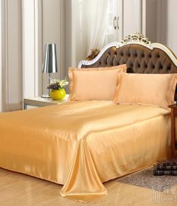 单独纯色真丝天丝冰丝桑蚕丝丝滑凉爽单人双人床单可定做圆床床笠