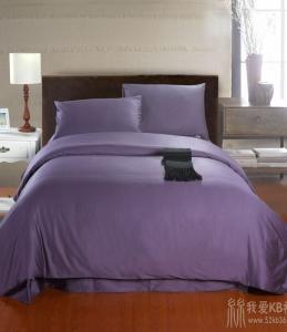 100%埃及长绒棉贡缎 60支埃及棉贡缎纯色四件套床上用品 特价